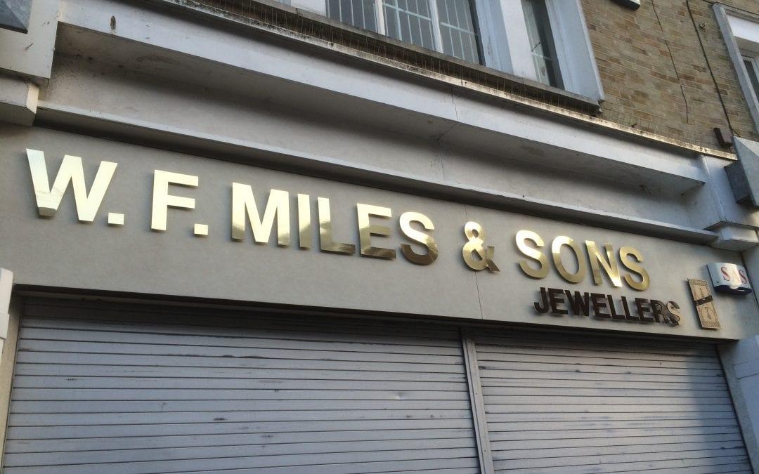 W F Miles and Sons Jewellers Signage Refurbishment